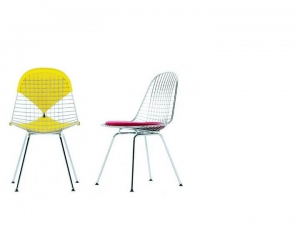 Wire Chair DKX-2 w całości tapicerowane
