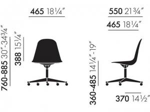 Eames Plastic Chair EPC PSCC  z tapicerowaną poduchą