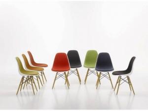 Eames Plastic Chair EPC DSW w całości tapicerowane