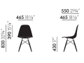 PROMOCJA - Krzesło EPC DSW (Eames Plastic Chair) - stary kolor, oxide red/yellowish - Vitra -
