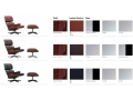 Eames Lounge Chair & Ottoman (walnut black pigmented) - od ręki! - Vitra - LC-promo-colours03.jpg