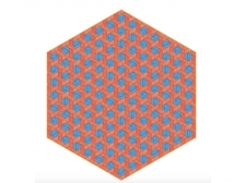 Dywan Hexagon Red/Blue by Studio Job  - moooicarpets