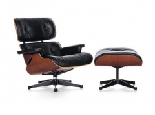 Eames Lounge Chair & Ottoman (walnut black pigmented) - od ręki! - Vitra