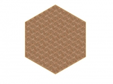 Dywan Hexagon Brown by Studio Job - moooicarpets