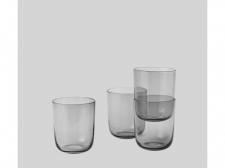 Szklanki Corky Glasses Tall - grey  - muuto