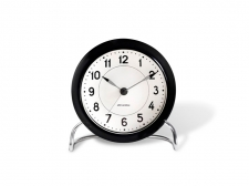 Arne Jacobsen Station Table clock black - budzik - Rosendahl