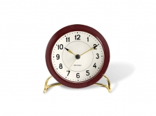 Arne Jacobsen Station Table clock red - budzik - Rosendahl