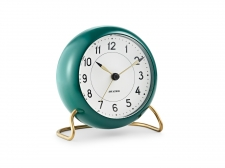 Arne Jacobsen Station Table clock green - budzik - Rosendahl