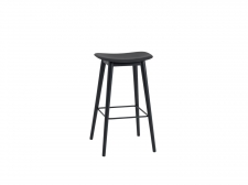 Hocker Fiber Stool Wood Base - muuto