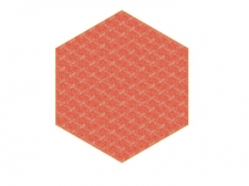 Dywan Hexagon Red by Studio Job  - moooicarpets