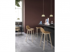 Hocker Fiber Stool Wood Base - Backrest - muuto