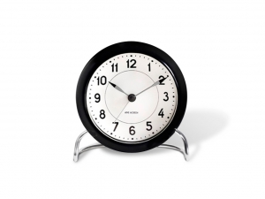 Arne Jacobsen Station Table clock black - budzik