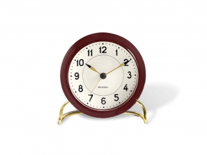 Arne Jacobsen Station Table clock red - budzik