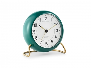 Arne Jacobsen Station Table clock green - budzik
