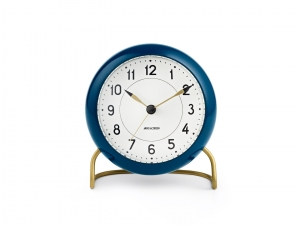 Arne Jacobsen Station Table clock blue - budzik