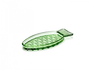 Dish Transparent Green Fish&Fish - talerz 4 szt.