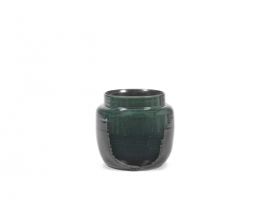 Flower Pot S dark green - doniczka
