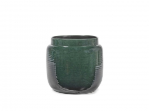 Flower Pot M dark green - doniczka