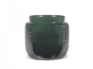 Flower Pot L dark green - doniczka