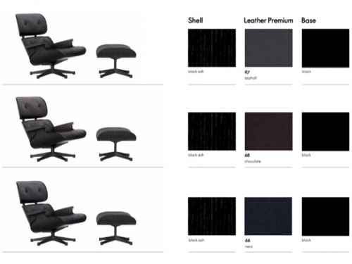 Eames Lounge Chair & Ottoman (walnut black pigmented) - od ręki! - Vitra - LC-promo-colours04.jpg