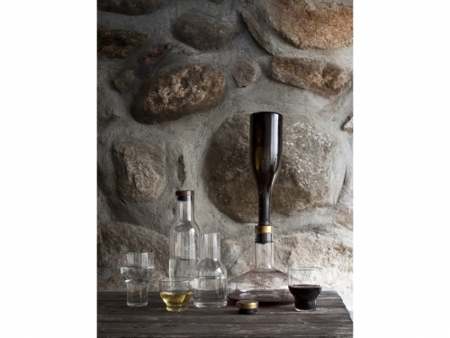 karafka Winebreather - Smoke/Brass - menu -