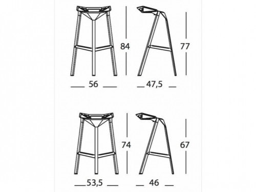 Chair One stool - Magis - stoolone3.gif