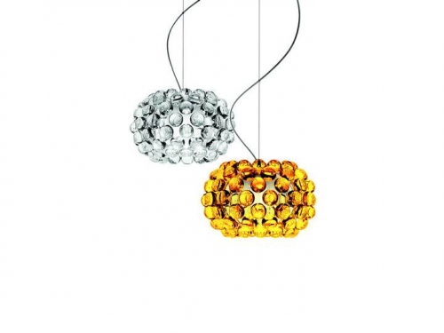 Caboche - lampa wisząca - Foscarini - CABOCHE+PICCOLA_suspension_gold_and_transp (2).jpg