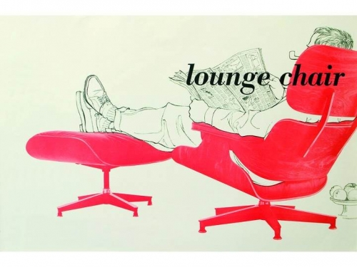 Eames Lounge Chair & Ottoman (walnut black pigmented) - od ręki! - Vitra - upholstered_lounge_poster_0000C52A.jpg