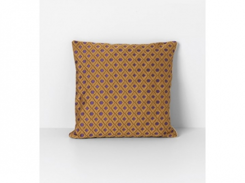 Poduszka Salon Cushion- Mosaic Curry - Ferm Living - cushion01.jpg