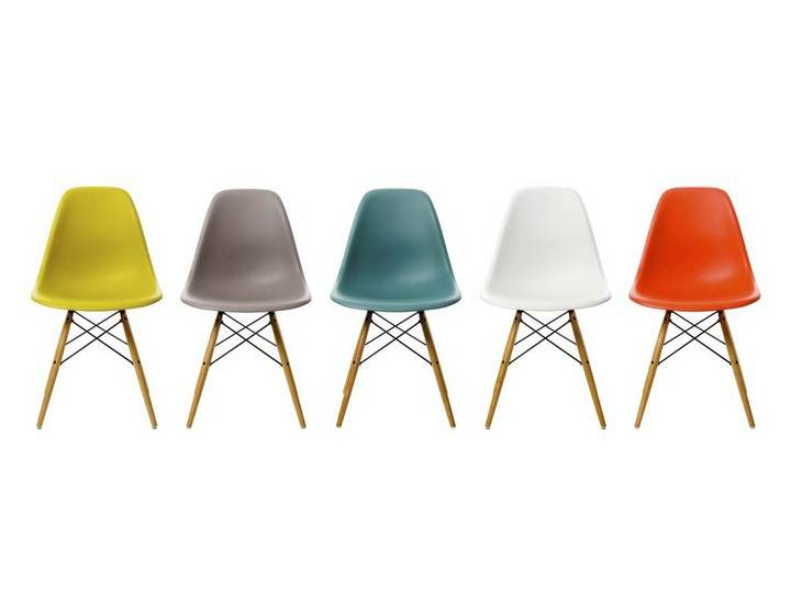 PROMOCJA - Krzesło EPC DSW (Eames Plastic Chair) - stary kolor, oxide red/yellowish - Vitra