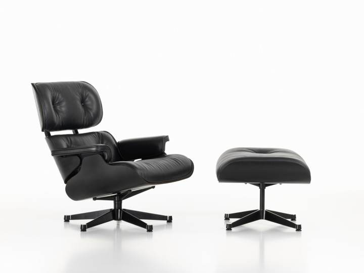Eames Lounge Chair & Ottoman black