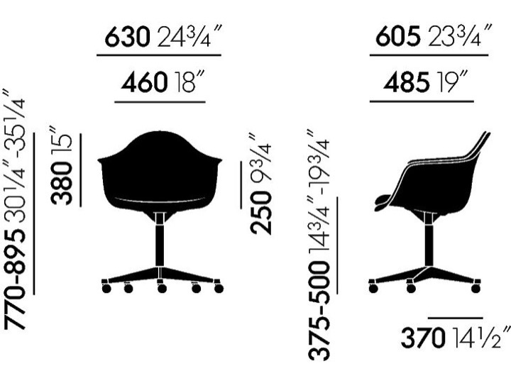 Fotel EPA PACC (Eames Plastic Armchair) tapicerowany - Vitra