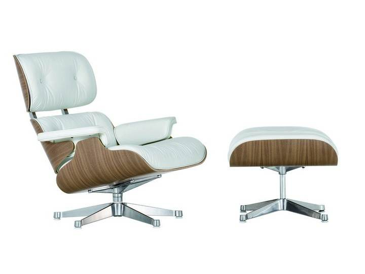 Eames Lounge Chair & Ottoman white - od ręki!