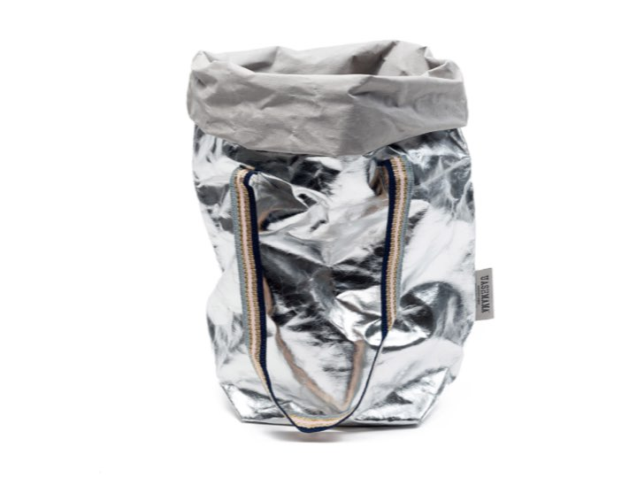 Carry Bag Metalic Two Silver - torba papierowa
